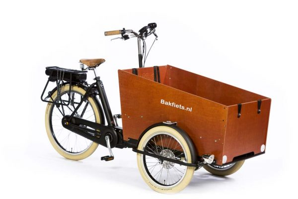 E-Cargo Trike Cruiser Wide - Matte Black - Amsterdam Bicycle Company