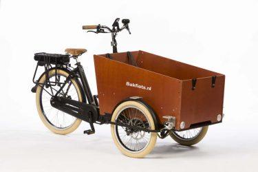 E-Cargo Trike Cruiser Wide - Matte Black - Disk Brakes - Amsterdam Bicycle Company