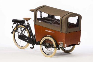 Rain Cover (E-)Cargo Trike Wide - Tweed - Amsterdam Bicycle Company