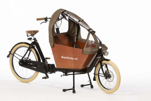 Rain cover (E-)Cargo Compact - All Open - Tweed - Amsterdam Bicycle Company