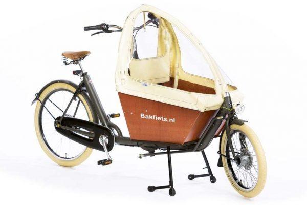 Rain cover (E-)Cargo Compact - Creme - Amsterdam Bicycle Company