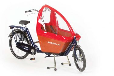 Rain cover (E-)Cargo Compact - Red - Amsterdam Bicycle Company