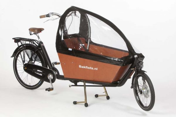 Rain cover (E-)Cargo Long - Black - Amsterdam Bicycle Company