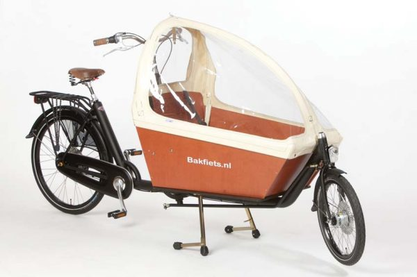 Rain cover (E-)Cargo Long - Creme - Amsterdam Bicycle Company