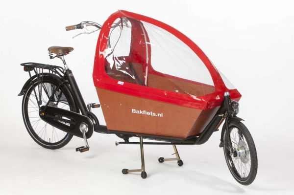 Rain cover (E-)Cargo Long - Red - Amsterdam Bicycle Company