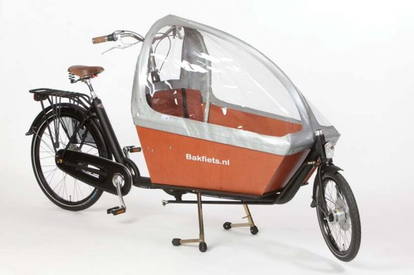 Rain cover (E-)Cargo Long - Silver - Amsterdam Bicycle Company