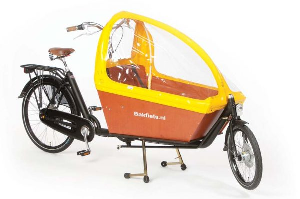 Rain cover (E-)Cargo Long - Yellow - Amsterdam Bicycle Company