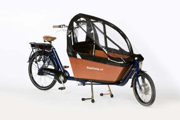 Rain cover (E-)Cargo Long&High - Black - Amsterdam Bicycle Company