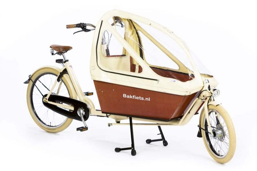Rain cover (E-)Cargo Long&High - Creme - Amsterdam Bicycle Company