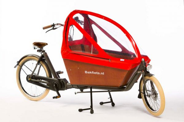Rain cover (E-)Cargo Long&High - Red - Amsterdam Bicycle Company