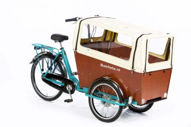 Rain cover (E-)Cargo Trike Narrow - Creme - Amsterdam Bicycle Company