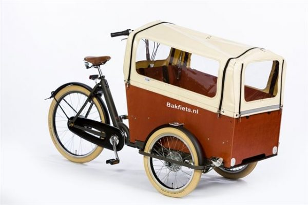Rain cover (E-)Cargo Trike Wide - Creme - Amsterdam Bicycle Company