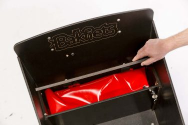 Storage compartment under bench - Amsterdam Bicycle Company